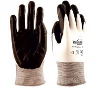 """Перчатки нейлоновые """"МикроНИТ"""" TNI-14 (нейлон+нитрил(черный), 13-й класс вязки)"""
