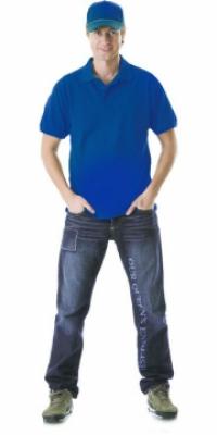 Рубашка-поло кор.рукав васильковая