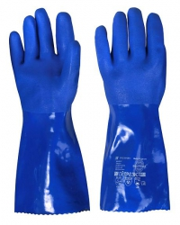 """Перчатки """"ОЙЛРЕЗИСТ"""" (ПВХ покрытие, интерлок, песчаное покрытие кисти и пальцев, дл.35см),р.M,L,XL"""