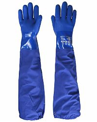 """Перчатки """"ОЙЛРЕЗИСТ ЛОНГ"""" (ПВХ , перчатка с припаянным нарукавником дл.26+40см),р.M,L,XL,XXL"""