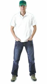 Рубашка-поло кор.рукав белая