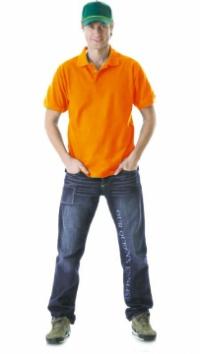 Рубашка-поло кор.рукав оранжевая