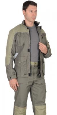 """Куртка """"ЧЕРВА"""" удлиненная, т.оливковый"""