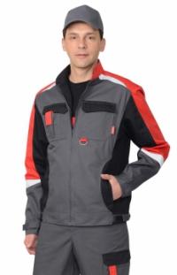 Куртка СИТИ-М серая с красным