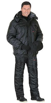 """Костюм """"Страж"""" с укороч.курткой чёрный"""