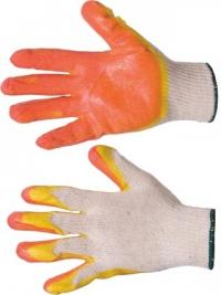 Перчатки х/б с двойным латексным покрытием высший сорт