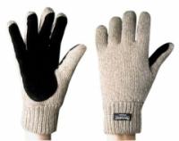 Перчатки шерстяные со спилковой накладкой (шотландская шерсть) с утеплителем ТИНСУЛЕЙТ