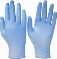 """Перчатки """"Нитртон+"""" (нитрил, голуб., пудра, толщ.0,12мм,дл.245мм.) р.S,M,L,XL"""