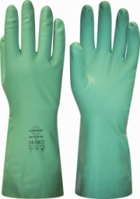"""Перчатки """"МЕТЕОР-SP"""" р.S,M,L,XL (нитрил, хлопковый слой, толщ.0,38мм, дл.330мм.)"""