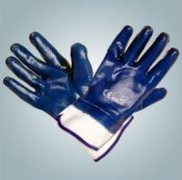 Перчатки х/б с полным нитриловым покрытием манжет плотная крага