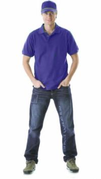 Рубашка-поло короткие рукава сиреневая