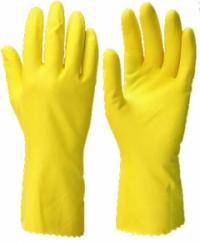 """Перчатки """"ЧИСТОТА"""" р.S,M,L,XL (латекс, хлопковый слой, толщ.0,38мм,дл.300мм.)"""