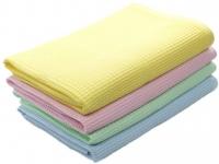 Полотенце вафельное 40х80 цветное набивное Шуя