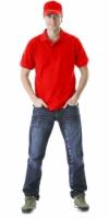 Рубашка-поло ярко-красная