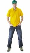 Рубашка-поло кор. рукав жёлтая