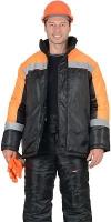 """Куртка """"Спецсервис"""" чёрная с оранжевым"""
