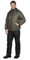 """Куртка """"Берн"""" оливковая с капюшоном"""