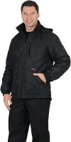 """Куртка """"Берн"""" с капюшоном чёрная"""
