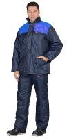 Куртка ЭКОНОМ зимняя синяя с васильковым