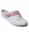 """Туфли Сабо """"Комфорт"""" белые с розовым нат.кожа"""