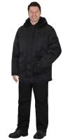"""Куртка """"Альфа"""" удлинённая чёрная тк.Гретта"""