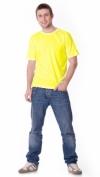 Футболка жёлтая плотность 160 г/кв.м.