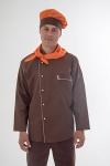Куртка повара коричневая 0302